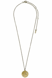 Pilgrim Leo Gold Star-Sign-Necklace - Front cropped