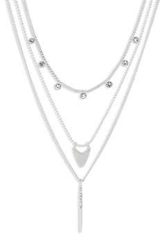 Pilgrim Triple-Layer Silver-Plated Necklace - Product List Image