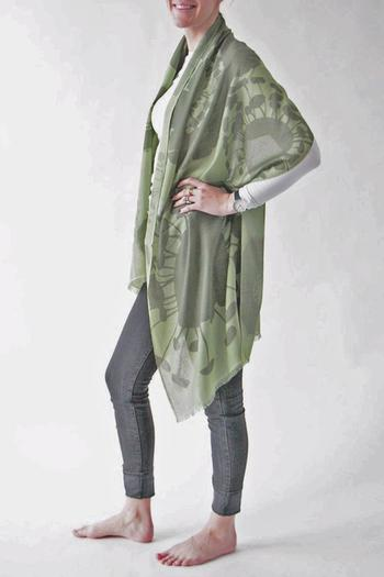 Shoptiques Product: Bloom Green Scarf - main