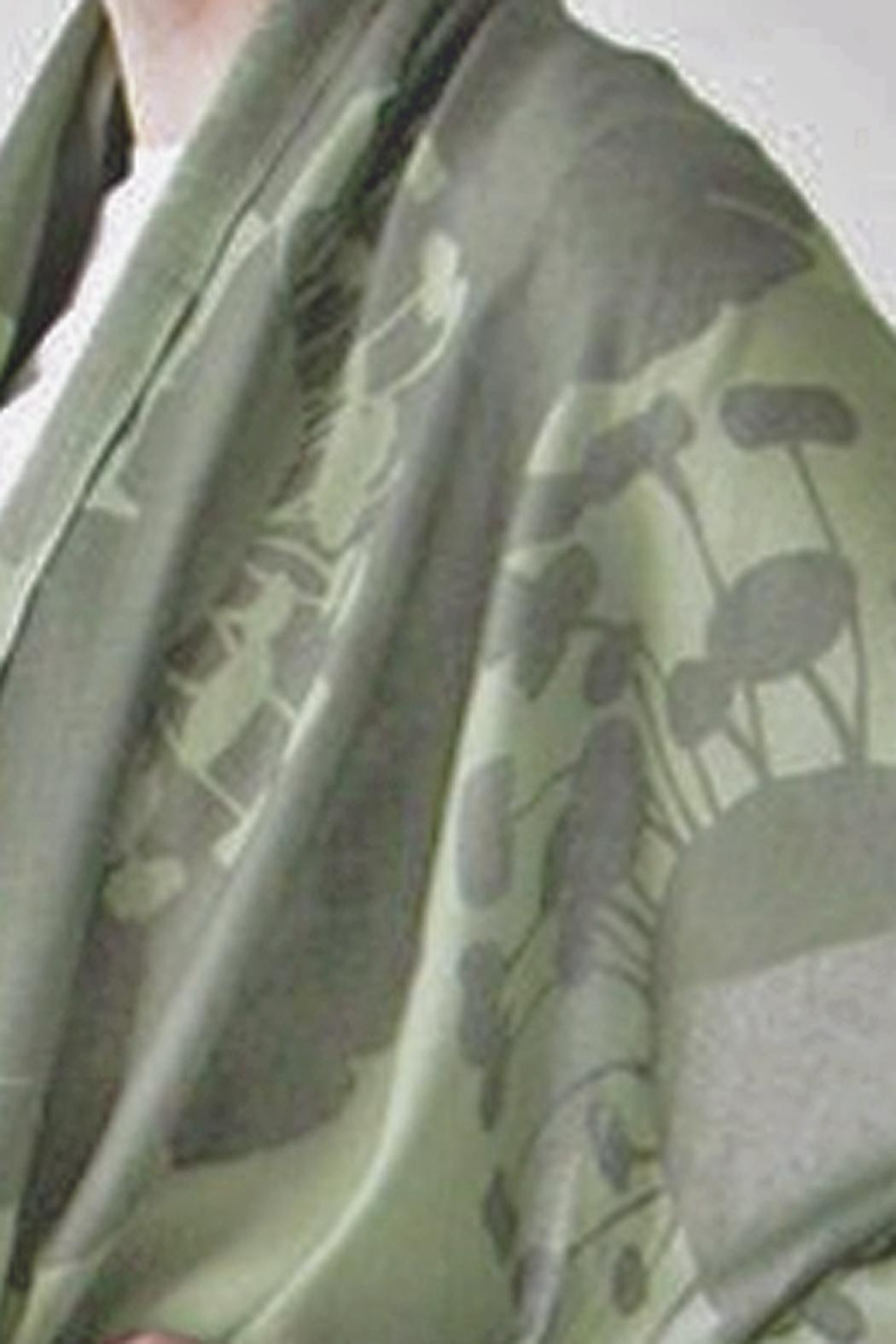 Pilgrim Waters Bloom Green Scarf - Front Full Image