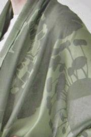 Pilgrim Waters Bloom Green Scarf - Front full body