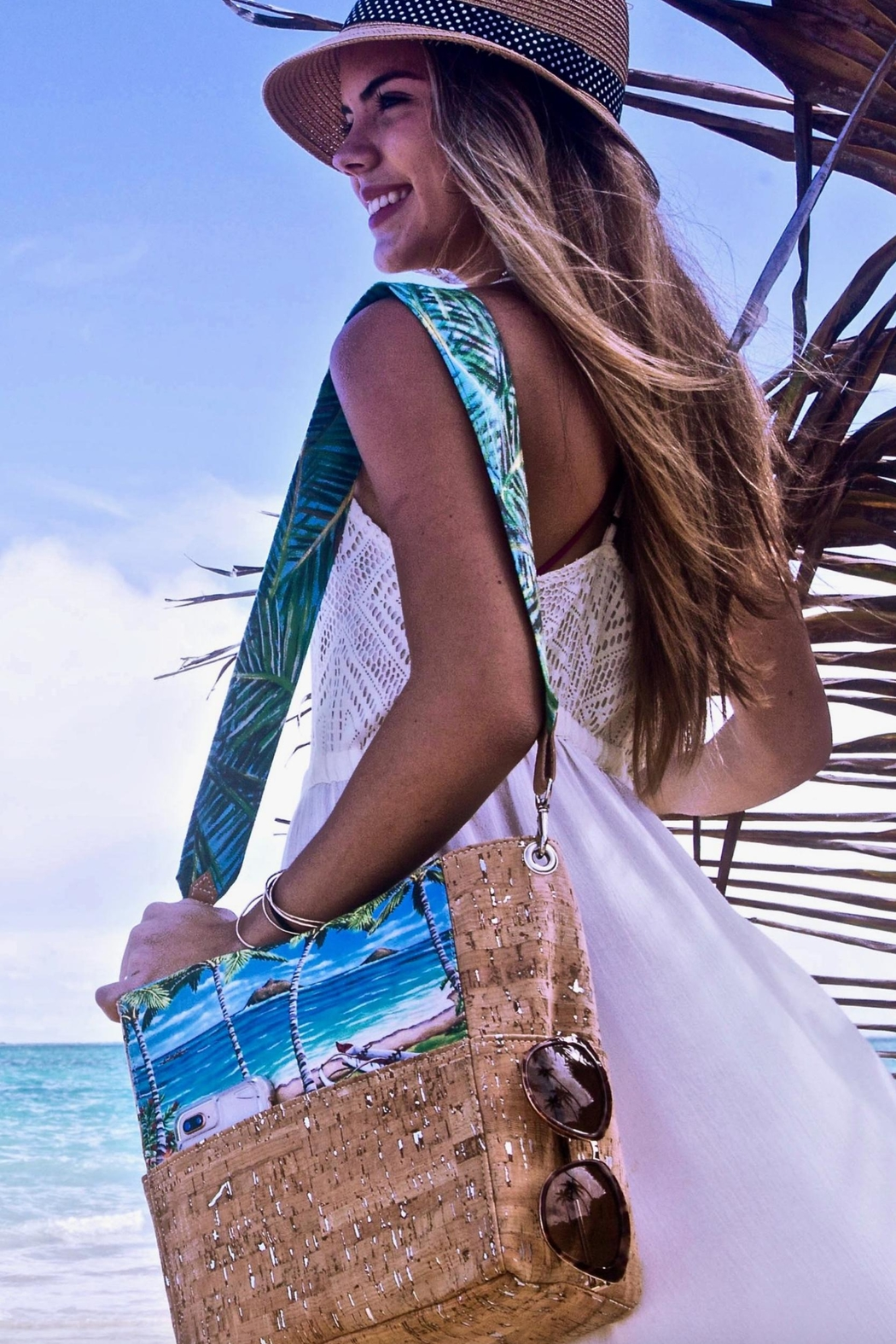 'olu'olu By Bliss Hawaii Pillbox Handbag - Front Full Image