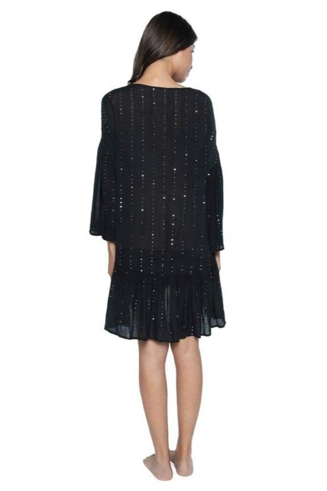 PilyQ Angelica Sequined Tunic - Side Cropped Image