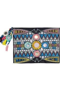 PilyQ Inca Embroidered Pouch - Alternate List Image