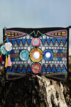 Shoptiques Product: Inca Embroidered Pouch