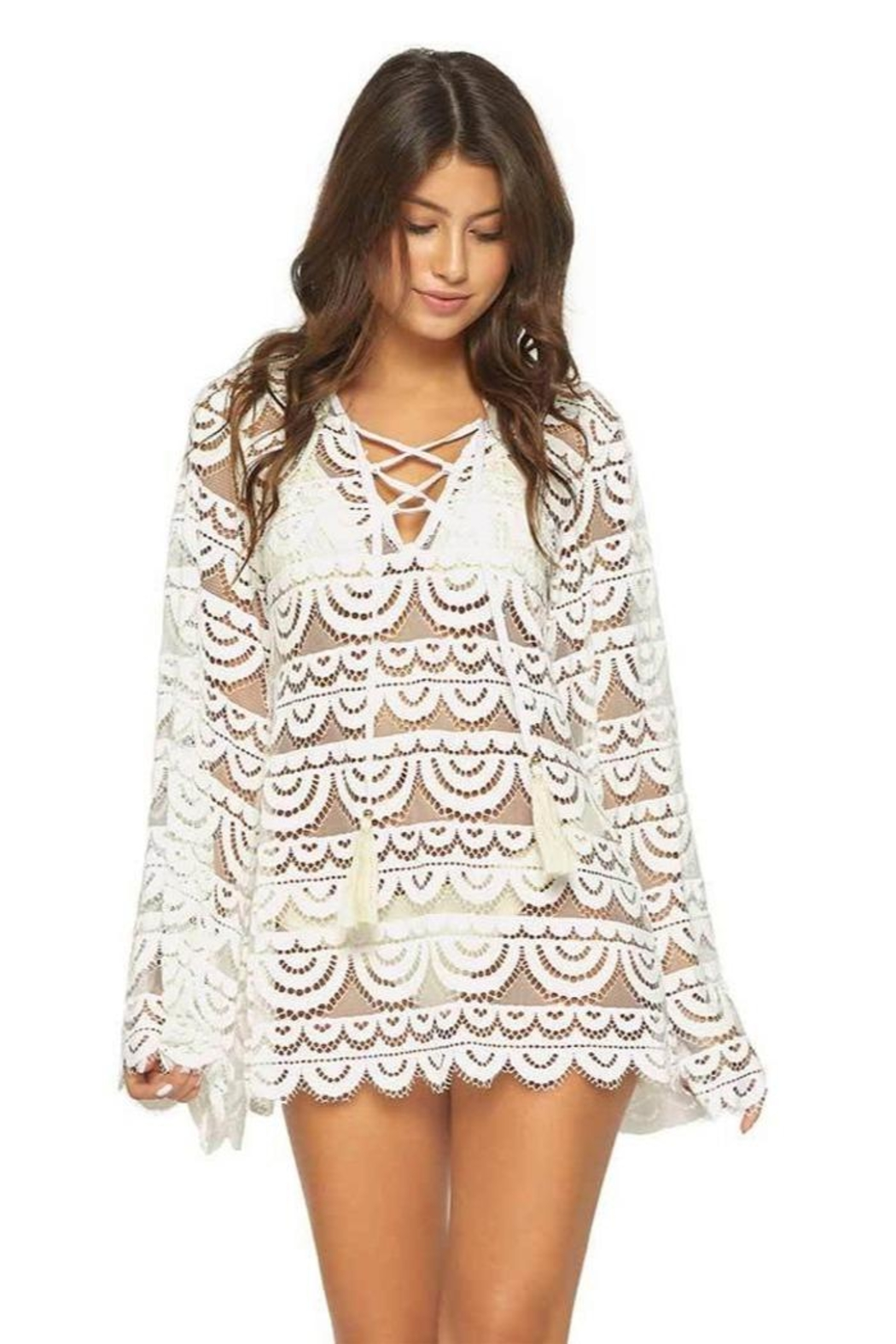 PilyQ Ivory Noah Tunic - Front Cropped Image