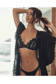 PilyQ Midnight Lace Robe - Front cropped