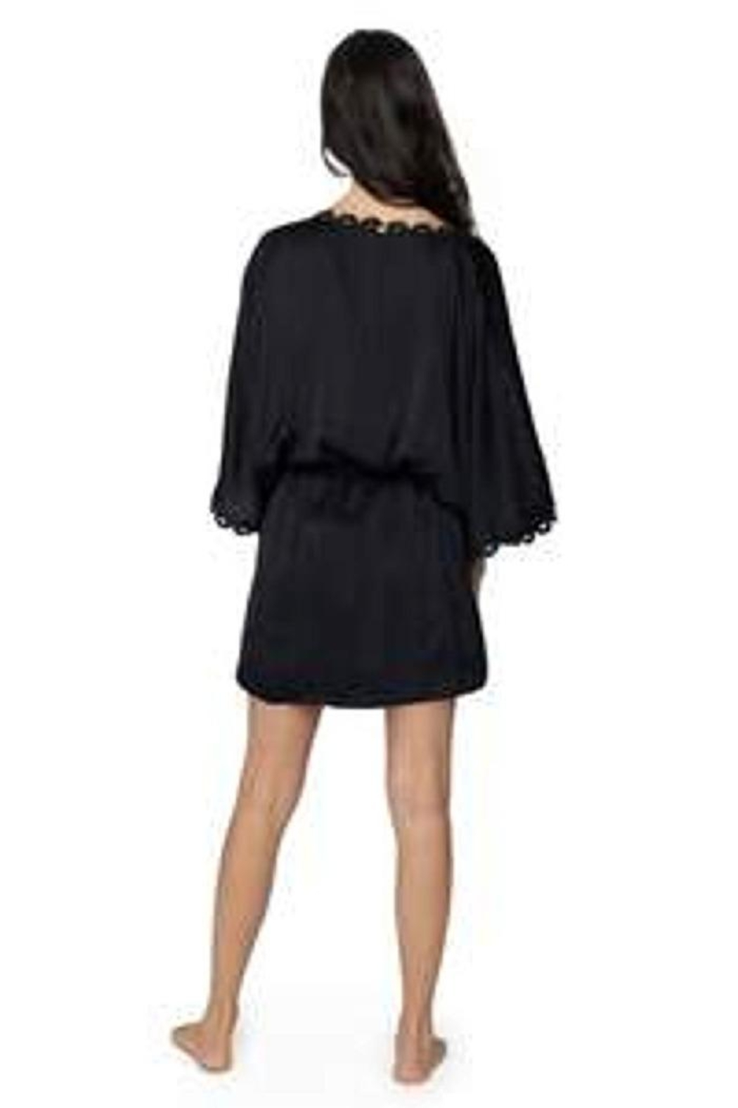 PilyQ Midnight Lace Robe - Side Cropped Image