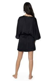 PilyQ Midnight Lace Robe - Side cropped