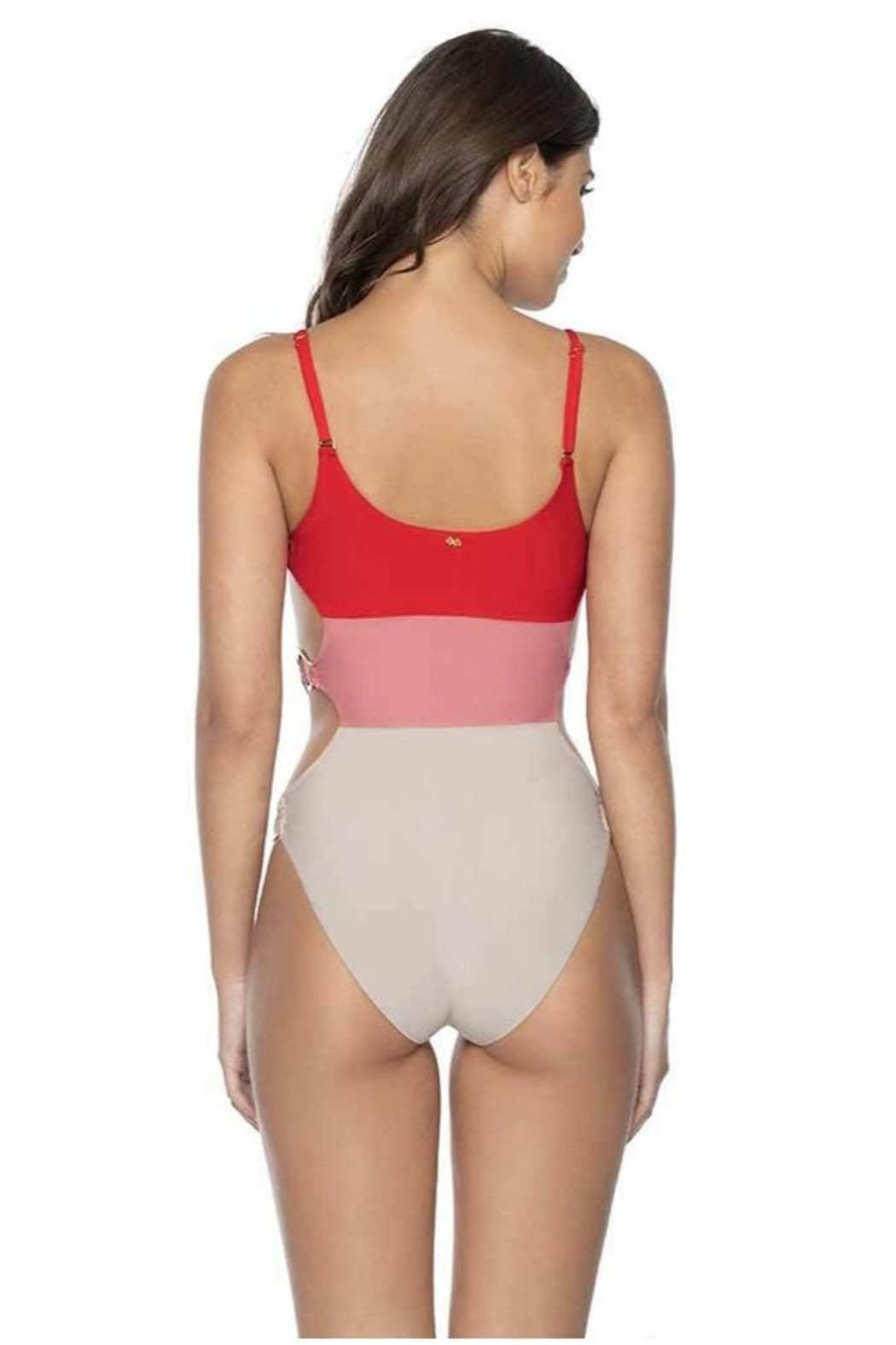PilyQ Red Coral One-Piece - Front Full Image