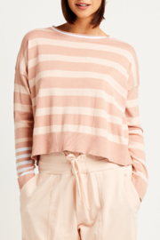 Planet Pima Cotton Classic Stripe Crew Sweater - Front cropped