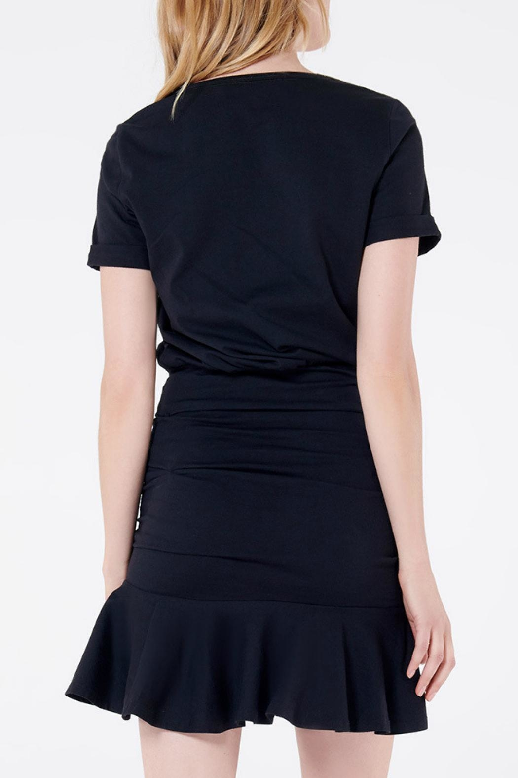 Veronica Beard Pima Ruched Dress - Side Cropped Image