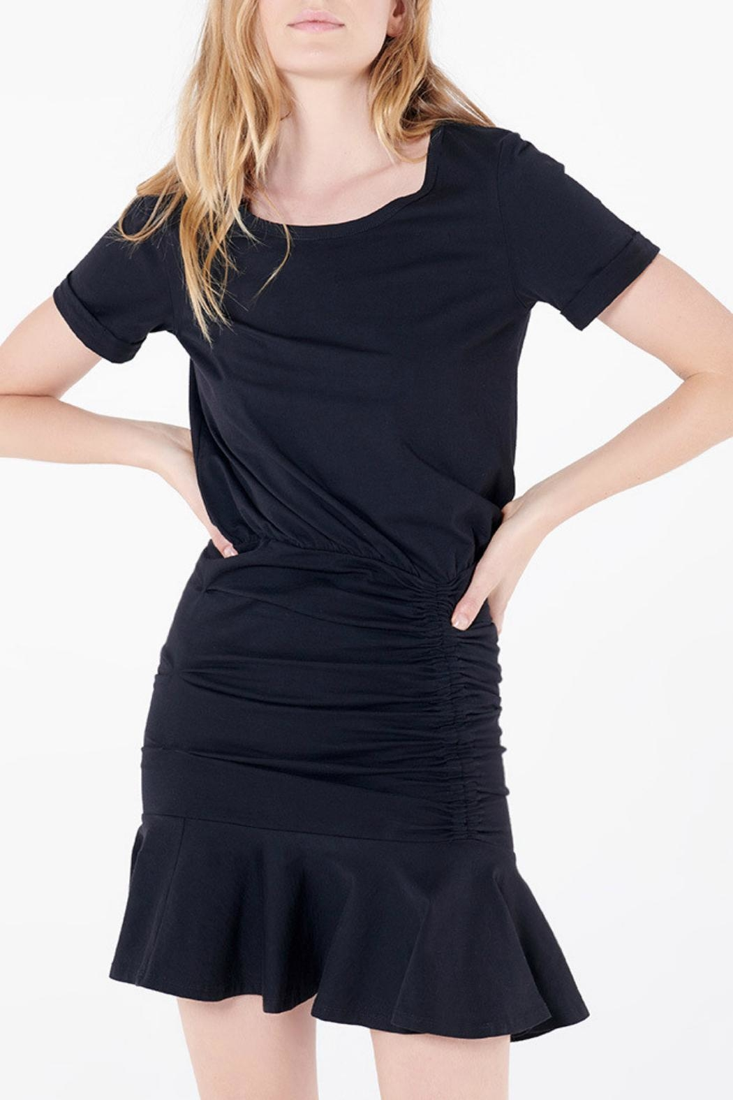 Veronica Beard Pima Ruched Dress - Front Cropped Image