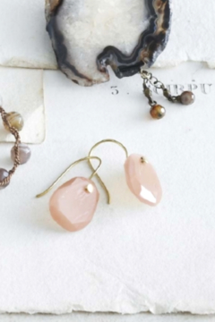 Roost Pin Earrings with Pink Moonstone - Alternate List Image