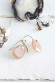 Roost Pin Earrings with Pink Moonstone - Product Mini Image