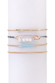 Riah Fashion Pin & Pearl Delicate-Bracelet-Set - Product Mini Image