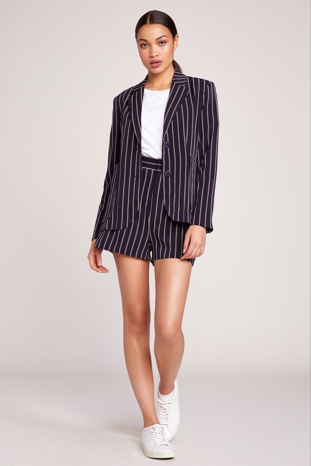 BB Dakota Pin Stripe Blazer - Main Image