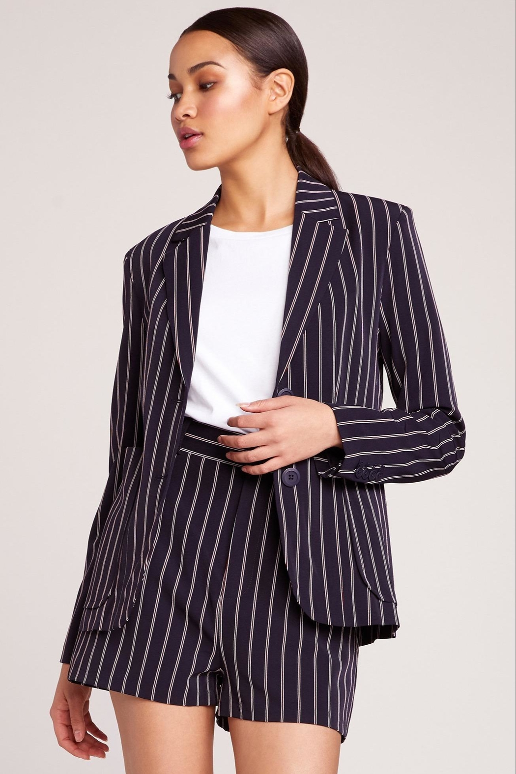 BB Dakota Pin Stripe Blazer - Front Full Image