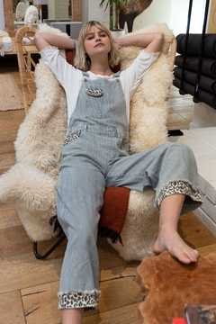 Pol Clothing Pin Stripe Denim Overalls - Product List Image