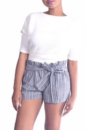 Love Tree Pin-Striped Paperbag Shorts - Product Mini Image