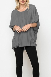 Monoreno Pin-Tucked Batwing Top - Product Mini Image