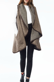 Look by M  Pin wheel pattern shawl vest - Product Mini Image