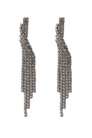Lets Accessorize Crystal Asymmetric Earrings - Product Mini Image