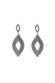 Lets Accessorize Oval Crystal Earrings - Product Mini Image