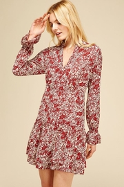 Pinch Floral Dress Burgundy - Product Mini Image