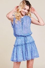 Pinch Sheered Tiered Mini-Dress - Front cropped
