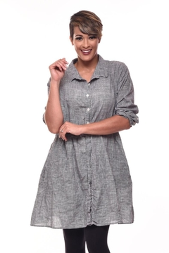 Shoptiques Product: Pincheck Shirt Dress