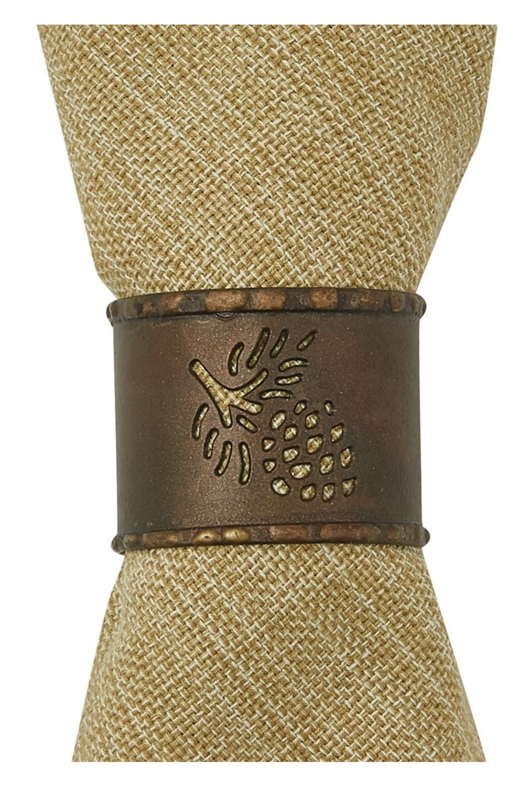 Park Designs Pine-cone Napkin Ring - Front Cropped Image