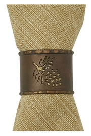 Park Designs Pine-cone Napkin Ring - Front cropped