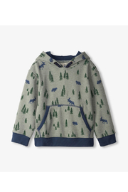 Hatley Pine Forest Pull Over Hoodie - Product Mini Image
