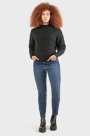 Black Tape/Dex Pine Green Cable Knit Sweater - Product Mini Image