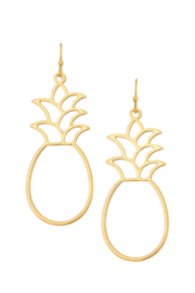 Girly Pineapple Drop Earrings - Product Mini Image