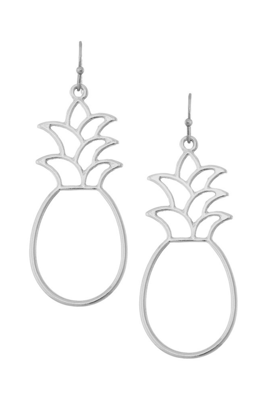 Girly Pineapple Drop Earrings - Front Cropped Image