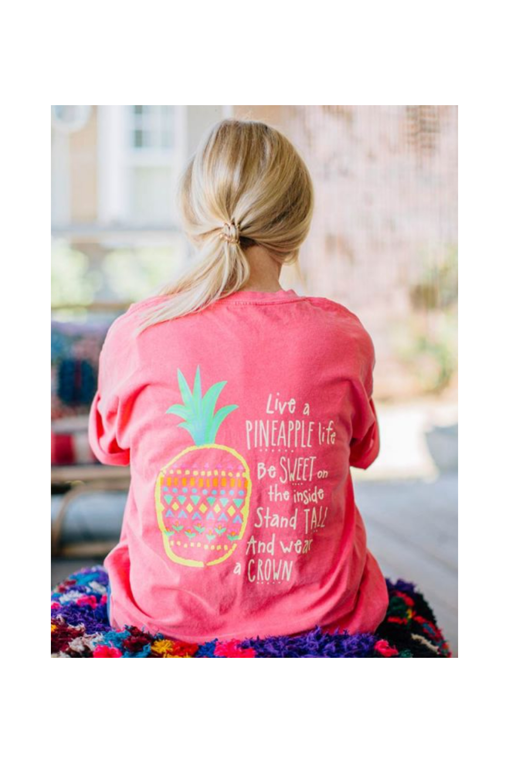 Natural Life Pineapple Life Tee - Front Cropped Image