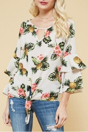 Promesa USA Pineapple Print Top - Front cropped
