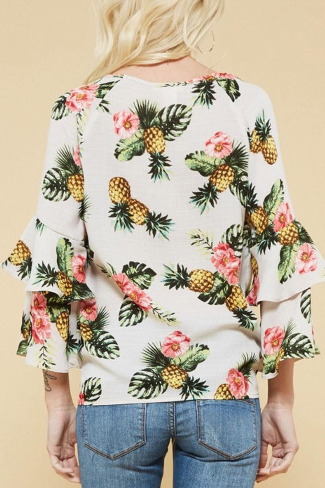 Promesa USA Pineapple Print Top - Front Full Image