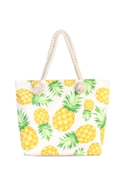 Riah Fashion Pineapple Print Tote - Product Mini Image