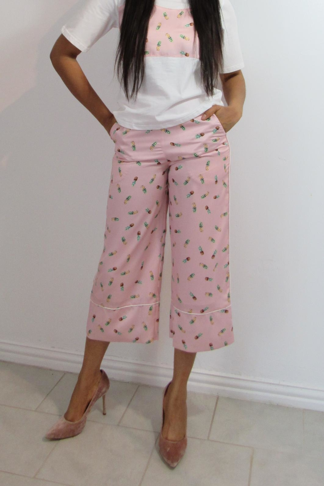 MODChic Couture Pineapple Set Trousers - Main Image