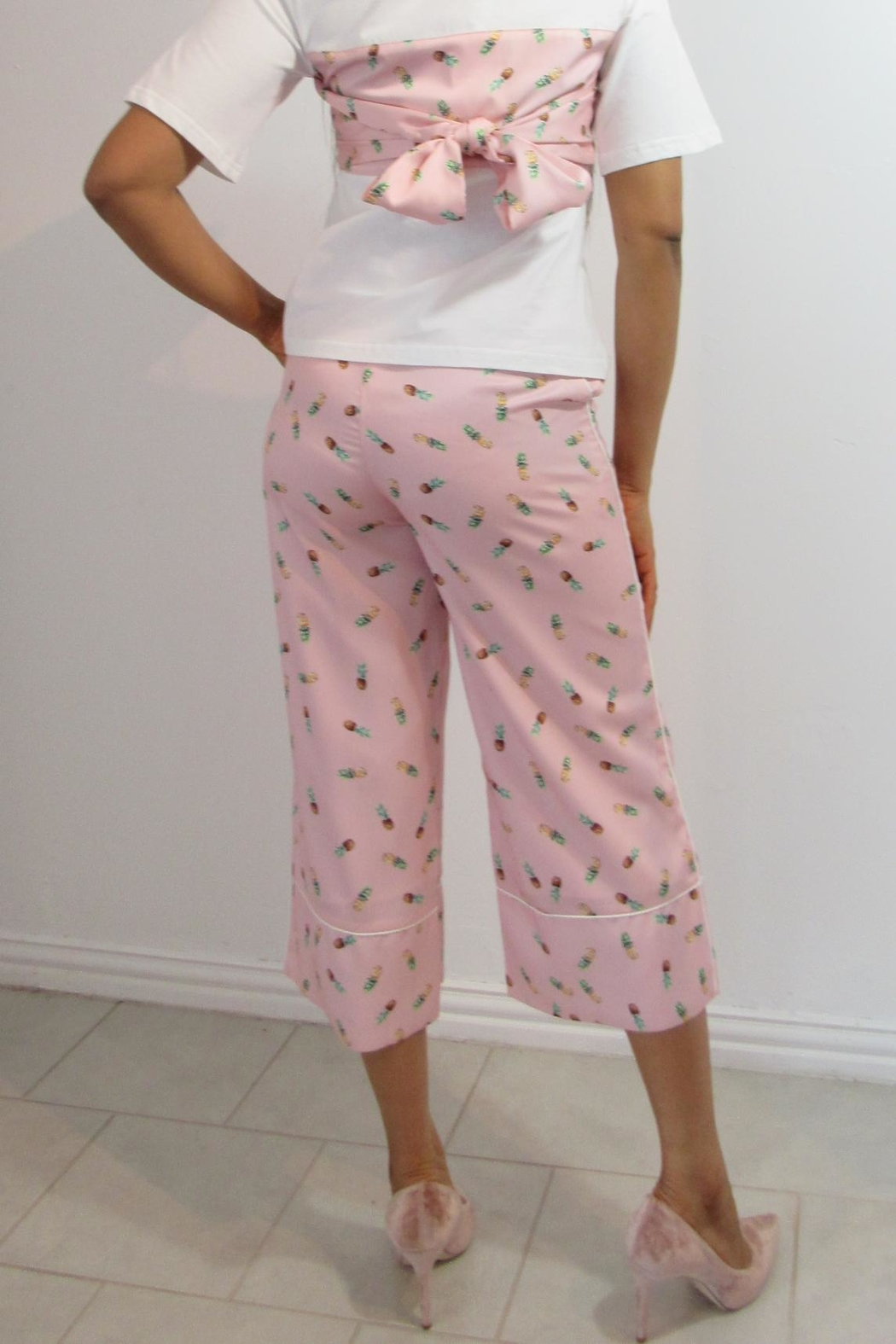 MODChic Couture Pineapple Set Trousers - Front Full Image