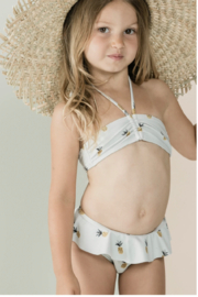 Rylee & Cru Pineapple Skirted Bikini - Front cropped