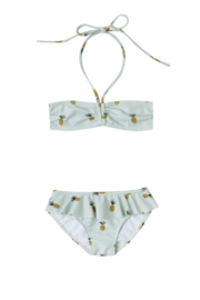 Rylee & Cru Pineapple Skirted Bikini - Front full body