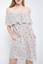 Soprano Pineapple Stripes Dress - Front cropped