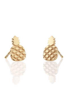 Shoptiques Product: Pineapple Stud Earrings