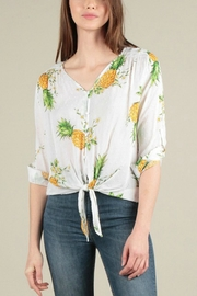 Skies Are Blue Pineapple Tie-Front Top - Front cropped