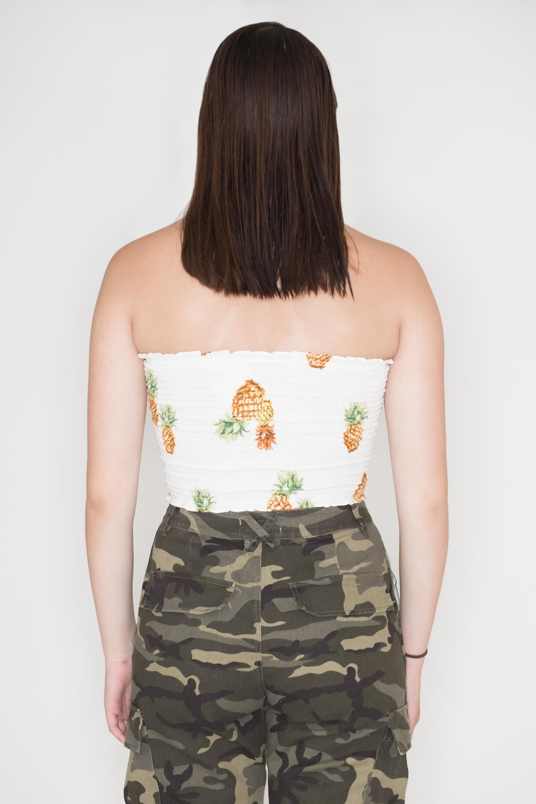 Wild Honey Pineapple Tube Top - Side Cropped Image
