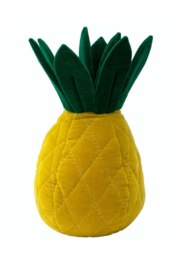 Meri Meri Pineapple Velvet Cushion - Front cropped